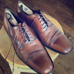 Brown Ferragamo Oxford Lace-Up Dress Shoes Size 10